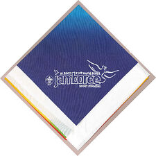 2007 World Scout Jamboree OFFICIAL STAFF (WHITE) Neckerchief / Scarf ~ SCARE