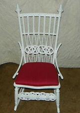White Wicker Rocker / Rocking Chair (R153)