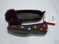 NWT Gymboree Cupcake Cutie Sz 2 Polka Dot Pom Pom Flats Shoes for 8 9 10