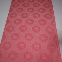 "Vintage Kimono Fabric Silk Pink Rinzu Art Classic 120cm 47/"" inches S20"