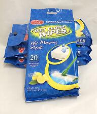 (Lot 4) Lemon Scented Wet Floor Wipes - 80pc 8.0 x 11.5 Inch (20.3cm x 29.2cm)