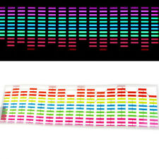 45 x 11cm Sound Music Audio Activated Sensor Car LED Light Equalizer Glow SM