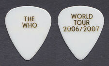 The Who Pete Townshend White Guitar Pick - 2006 2007 World Tour