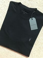 "ALL SAINTS JET BLACK ""VIDO TONIC"" S/S CREW LOGO T-SHIRT TOP - M L XL - NEW TAGS"