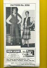 8356 - WAISTCOAT TROUSERS & SKIRT - SIZES 18 - UNCUT - COMPLETE
