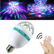 LAMPADA LAMPADINA LED RGB ROTANTE EFFETTO LUCI MULTICOLOR ATTACCO E27