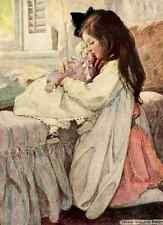 A4 Photo Willcox Smith Jessie 1909 Nursing dolly Print Poster