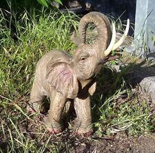 Gartenfigur Gartendeko Elefant stehend Afrika Zoo Gartendekoration 3404