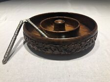 hand crafted wooden bowl for nuts