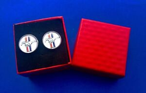 Ford Mustang Cuff Link Set Auto Cuff Links Car Logo (New)