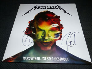 METALLICA signed Autogramm auf HARDWIRED... Vinyl Schallplatte InPerson LOOK