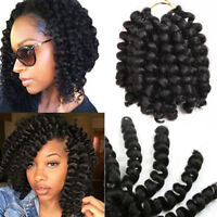 6 Packs 8'' Curly Jumpy Wand Curl Synthetic Twist Crochet Braids Hair Extensions