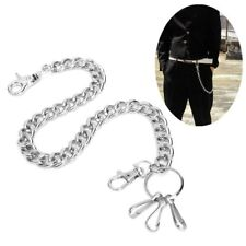 48cm Mens Silver Metal Biker Rock Punk Wallet Chain Jeans Link Waist KeyChain