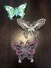 Vintage 3 Butterflies Broches Sarah Coventry, Made In France, Gold/silver Tone