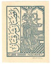 JERZY ROZANSKI: Exlibris für Barbary Muszynskiej, indische Tänzerin