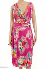 DOLCE & GABBANA D&G NWT Pink Floral Draped Chain Necklace Corset Dress 46 10/12