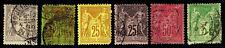 1879-1900 FRANCE #97-101 & 104 PEACE & COMMERCE - USED - F/VF+ - $17.10 (E#2600)