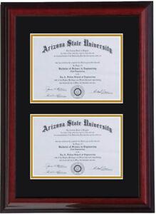 Double diploma frame RC-V 8x6,11x8.5,11x14,8x10,5x7,7x9,9x12,10x13,11x14,11x17