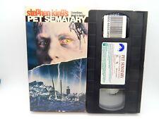 3C VHS PET SEMATARY Stephen King Horror 1989 Classic Ramones Music