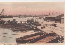 Egypt; Alexandria, The Docks PPC 1920 PMK By Scortzis To Miss Wetmore, Stockwell
