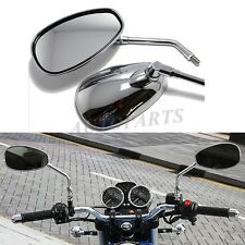 MOTORCYCLE CHROM   E 10mm REARVIEW MIRRORS FOR SUZUKI BOULEVARD CRUISER M109R US