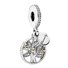 New Genuine Sterling Silver Pandora Family Heritage Pendant Charm 791728CZ