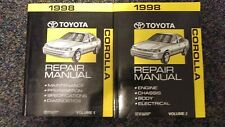 1998 Toyota Corolla Factory Service Repair Manual Volume 1 And 2