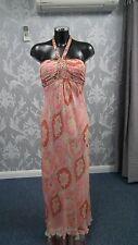 Multi Coloured Floral Design Maxi Dress in Silk size 6