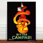 "Vintage French Liquor Poster Art ~ CANVAS PRINT 8x12"" Bitter Campari"