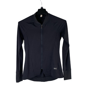 Under Armour Womens Size SM Black Fitted All Season Gear Full Zip Active Jacket