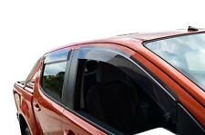 Tinted Door Visor Weather Rain Shield Slimline for Holden Colorado RG 12-19
