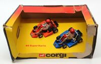 Corgi Appx 7cm Long Diecast 46 - Super Karts (2) - Orange/Blue