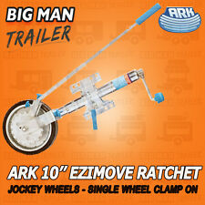 "Ark 10"" U-Bolt Single Wheel Clamp-on Ezimover Ratchet Jockey Trailer Caravan"
