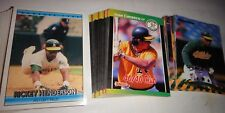 OAKLAND As==3 COMPLETE TEAM SETS, ALL DONRUSS==1989, 1993 AND 1997