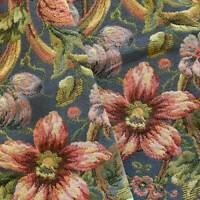 Blue/Pink/Multi Floral Tapestry Home Decorating Fabric, Fabric By The Yard