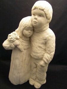 Austin Productions Boy and Girl BRIGHT EYES Sculpture Big Brother