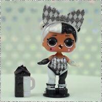 New LOL Surprise! Lights Glitter HARLEQUIN GIRL Black White Baby Doll NEW Sealed