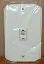 3 Leviton WHITE 4-Wire Surface Mount  Wall Phone Jack/Plate  C0253-W