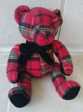 Plaid Bear Toy Stuffed Animal Gift Craft Kids Children's