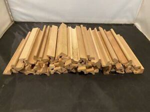 LOT OF 65 WOOD WOODEN REPLACEMENT LETTERS TILE HOLDER RACK