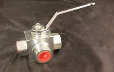 High Pressure Hydraulic Ball Valve 3 way 1/4  NPT Ports Anchor Fluid Power