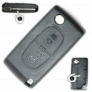 Citroen C3 C4 C5 Picasso  Auto Klapp Schlüssel 2 Tasten repair Ersatz Gehäuse