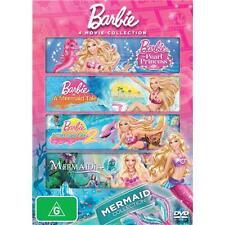 Barbie Mermaid DVD Collection In A Mermaid's Tale 1 + 2/Pearl Princess/Mermaidia