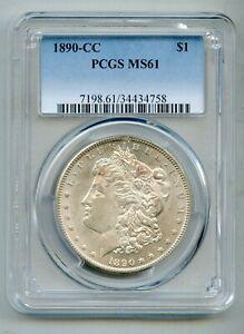 1890 CC Morgan Silver Dollar PCGS MS 61
