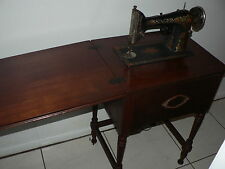 Antique Vintage Singer Red Eye Rotary Sewing Machine w/ Ornate Cabinet Electric