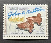 WTDstamps - #RW27 1960  - US Federal Duck Stamp - Mint OG NH **ARTIST SIGNED**