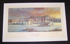 """Michael Blaser Limited Edition Print """"Cincinnati Public Landing 1850"""" Tallstacks"""