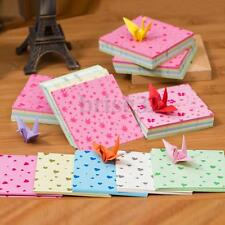 150 Sheets Square Origami Paper Crane Folding Colorful DIY Craft Best Wish Gift