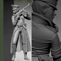 1/35 Resin Figure Model Kit World War II Female officer-Unpainted- Hot R2K5