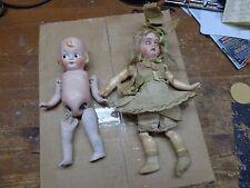 Hermoso Antiguo Victoriano Muñecas De Cerámica China alemán hizo dos de Juguetes Niñas 1